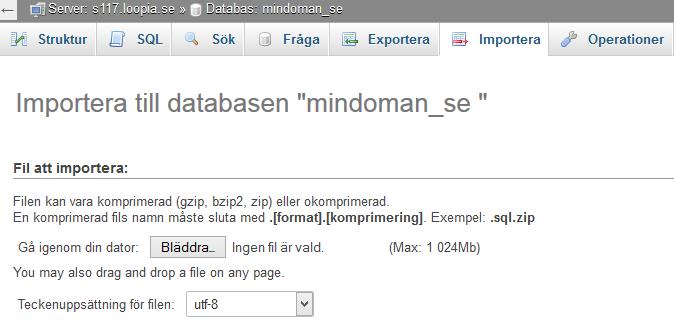 phpmyadmin-importera