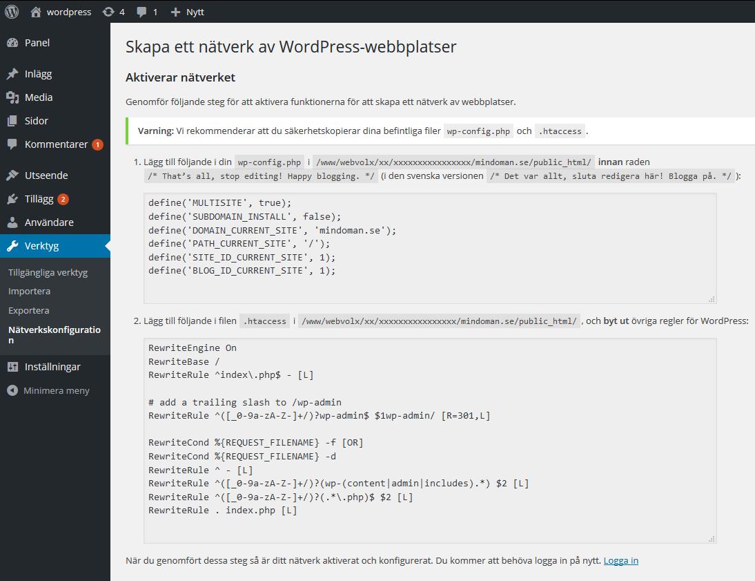 WordPressMultiSite
