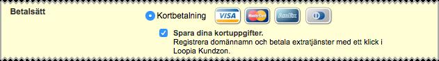Skärmdump som visar var du klickar i för att spara dina kortuppgifter.